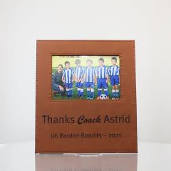 LEATHERETTE PHOTO FRAME 220mm x 250mm