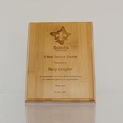 Bamboo Plaque 200mm