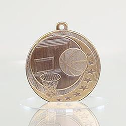 Basketball Wayfare Medal Gold 50mm