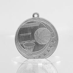 Basketball Wayfare Medal Silver 50mm