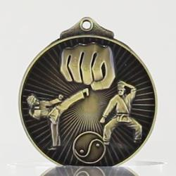 Embossed Martial Arts Medal 52mm
