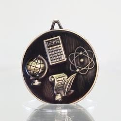 Scholarship Medal Academic Gold 62mm