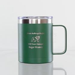 Green Double Wall Mug with Handle 400ml
