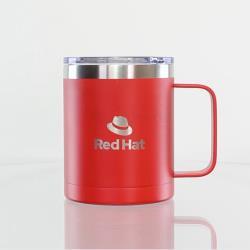 Red Double Wall Mug with Handle 400ml