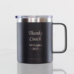 Black Double Wall Mug with Handle 400ml