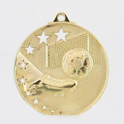 Star Soccer Medal 52mm Gold