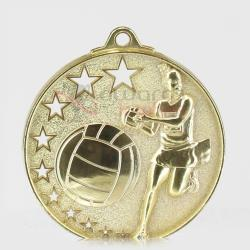 Star Netball Medal 52mm Gold