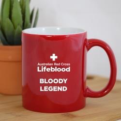 ENGRAVED COFFEE MUG RED
