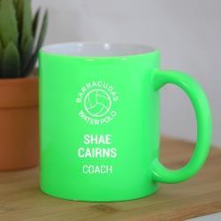 ENGRAVED COFFEE MUG GREEN