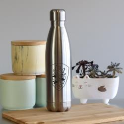 A&T INSULATED WATER BOTTLE 500ML - BRUSHED STAINLESS
