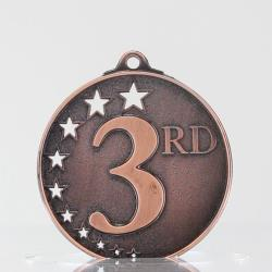 Star Medal Third Place Bronze 50mm