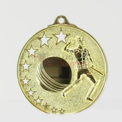 Star Cricket Medal 52mm Gold
