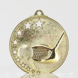 Star Golf Medal 52mm Gold