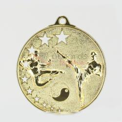 Star Karate Medal 52mm Gold