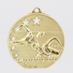 Star Swimming Medal 50mm Gold