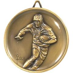 Heavyweight Rugby Medal 64mm