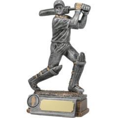 Cricket Batsman Silver Figure 210mm