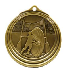 Ripple Series Rugby Medal 57mm