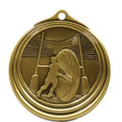 Ripple Series Rugby Medal 57mm