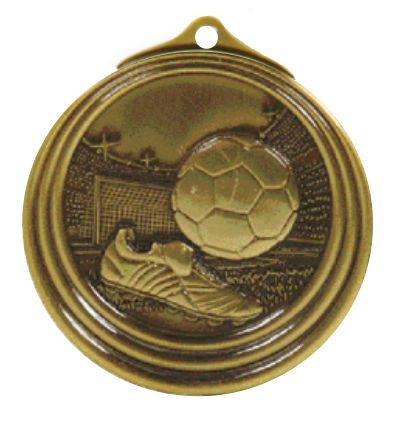 Ripple Series Soccer Medal 57mm