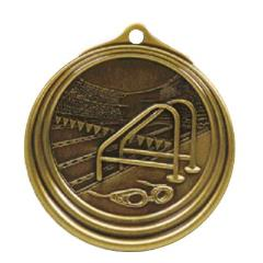 Ripple Series Swimming Medal 57mm