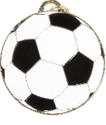 Coloured Soccer Medal 50mm