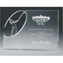 Golf Crystal & Chrome Block 180mm