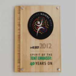 Eco Plaque Series - Bamboo & Acrylic 230mm