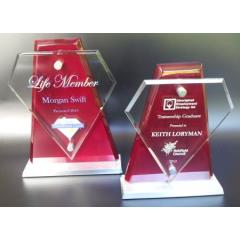 Rosewood/Glass Diamond Stand - 2 sizes