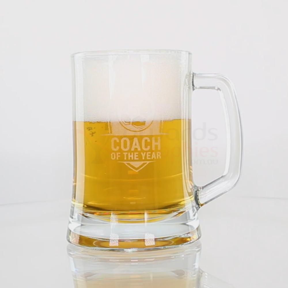 Glass Beer Mug 500ml