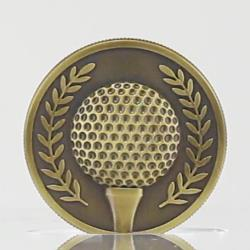 Gold Golf Coin in Case