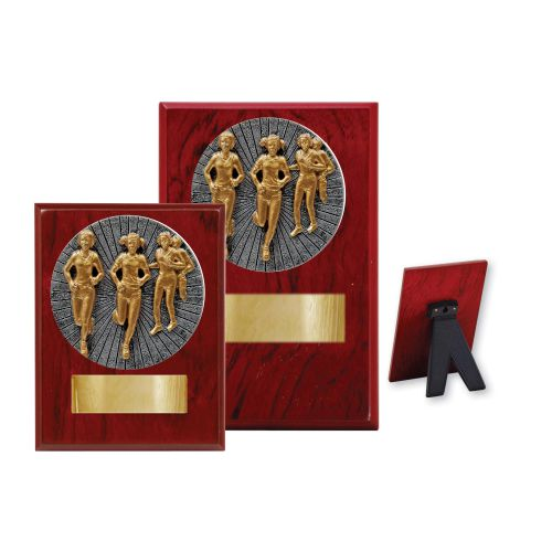 Cross Country Female Wood Plaque - 2 Sizes