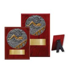 Swimming Wood Plaque - 2 Sizes