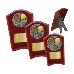 Tennis Wood Plaque Curved - 3 Sizes