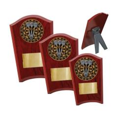 Darts Wood Plaque Curved - 3 Sizes