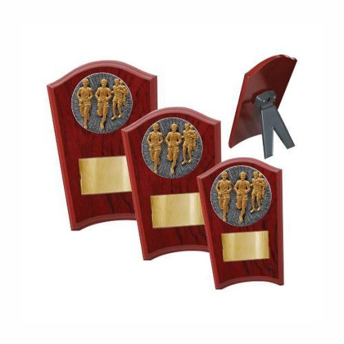Cross Country Male Wood Plaque Curved - 3 Sizes