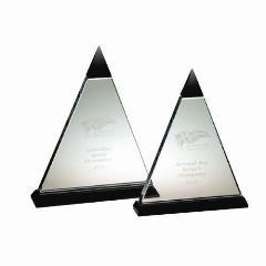 Crystal Pyramid Clear/Black (2 sizes)