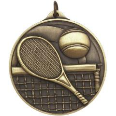 Embossed Tennis Medal 50mm