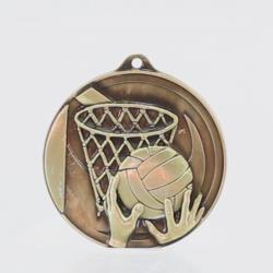Embossed Netball Medal 50mm