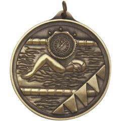 Embossed Swimming Medal50mm