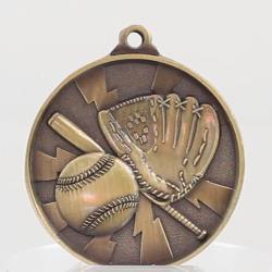 Lightning Series Baseball Medal 50mm Gold