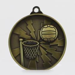 Lightning Netball Medal 55mm Gold
