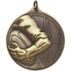 Embossed Rugby Medal50mm