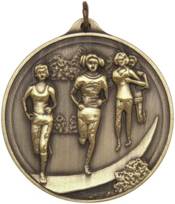 An Embossed Cross-Country Female Medal 50mm