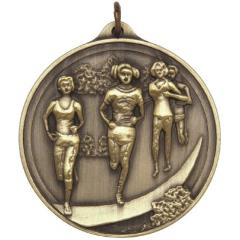 Embossed Cross-Country Female Medal 50mm