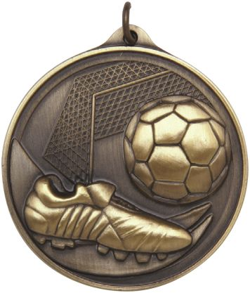 Embossed Soccer Medal 50mm