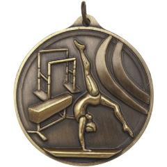 Embossed Gymnastics MedalFemale 50mm
