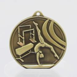Embossed Gymnastics Medal Female 50mm