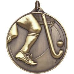 Embossed Hockey Medal 50mm