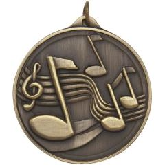 Embossed Music Medal